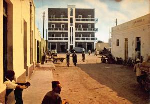 Libya Tobruk Zuohair Street Postcard
