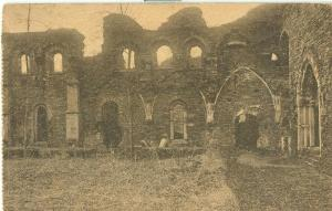 Belgium, Abbaye de Villers, early 1900s used Postcard CPA