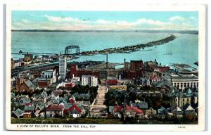 1932 Duluth, MN and Harbor from the Hill Top Postcard