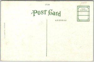 Little Rock, Arkansas Postcard Public Library Street View Kropp c1930s Unused