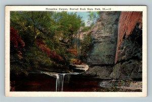 La Salle County IL, Horseshoe Canyon, Starved Rock, Vintage Illinois Postcard
