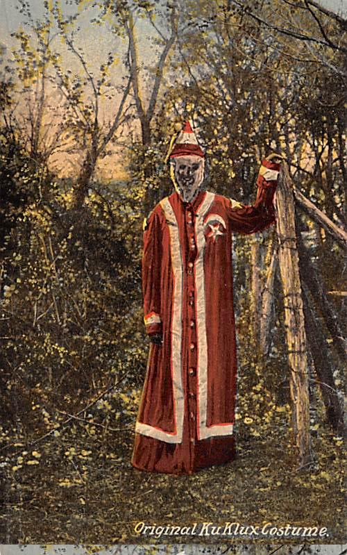 Original Ku Klux Klan Costume 1890's Costume, Found in house in Pulaski, Tenn...