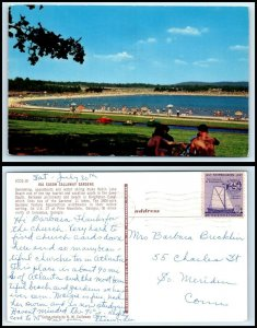 GEORGIA Postcard -Pine Mountain, Ida Cason Callaway Gardens, Robin Lake Beach N9