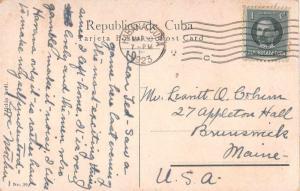 Habana Cuba Nuevo Fronton Spanish Basketball Game Antique Postcard J52802