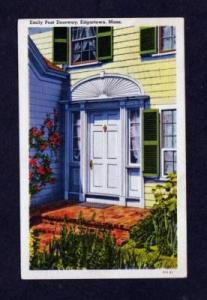 MA Emily Post Doorway EDGARTOWN MASS POSTCARD 1939