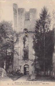Ruines de l'Abbaye de JUMIEGES, Le Transept de l'Eglise Notre-Dame, Seine Mar...