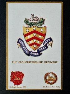 Regimental Badges THE GLOUCESTERSHIRE REGIMENT Postcard by Gale & Polden 1662