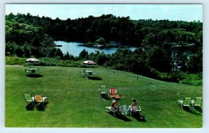 BOOTHBAY HARBOR, ME Maine ~ LAKE VIEW MOTEL c1950s Roadside   Postcard