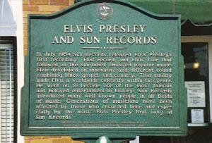 Elvis Presley and Sun Records Plaque At Sun Studio 706 Union Avenue Memphis T...