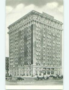 Unused Divided Back ONONDAGA HOTEL Syracuse New York NY hr9966