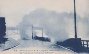 Wimereux Storm Disaster at Boulogne Rough Sea French Postcard