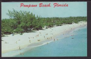 Beach Scene,Pompano Beach,FL Postcard BIN