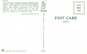 Great Smoky Mts. Nat'l Park, NC, Clingman's Dome Tower, 1962 Postcard g8927
