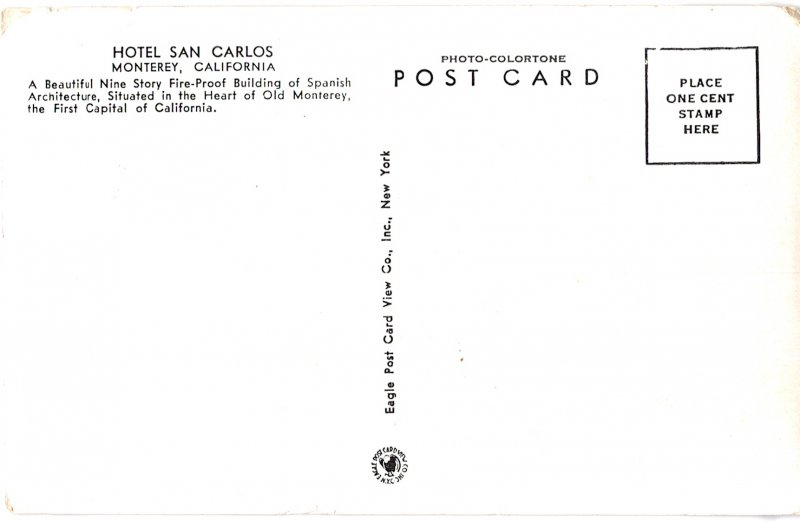Hotel San Carlos, Monterey, California