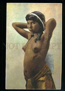 213633 Semi-nude Arabian little girl Vintage postcard