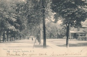 East Avenue - Bicycle - Rochester NY, New York - pm 1906 - Rotograph UDB