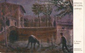 F.R.Segura. Moon Effect. Efecto de Luna Fine painting, nice Spanish PVC 1920s