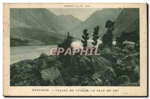 Old Postcard Vallee du Dauphine Veneon terms Lake