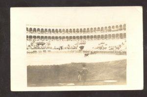 RPPC MEXICO CITY MEXICO BULLFIGHT STADIUM MATADOR OLD REAL PHOTO POSTCARD