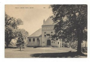 Postcard Maine ME Public Library Standard View Card