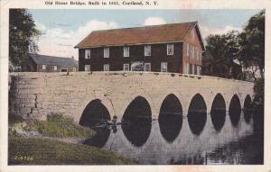 Old Stone Bridge - Cortland NY, New York pm 1930