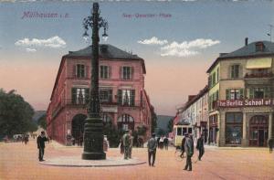 Mühlhausen (when Germany) , Bas-Rhin , Now France , 00-10s ; Neu-Quartier-Platz