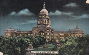 Texas Austin State Capitol Building At Night