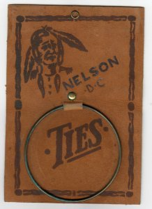NELSON , B.C. , Indian Portrait Tie Hanger , Leather , 00-10s