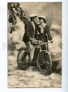 198294 BICYCLE Cycling Ride of Lovers Vintage PC