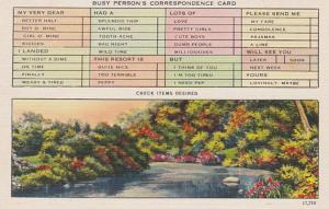 Humour Busy Persons Correspondence Card