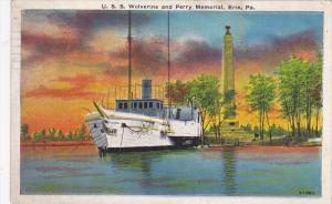 U.S. WOLVERINE & Perry Monument , ERIE , Pennsylvania, 30-40s