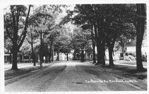 Constantine MI Power Lines Cross Over Rough Centerville Rd~Homes RPPC 1940s