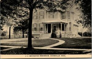 Hicksville Ohio~JL Bevington Mansion~Boon Bevington Dry Goods Store Owner~1915