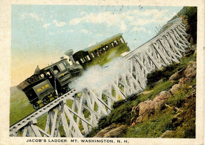 NH - Mt Washington, Jacob's Ladder, Cog Railway. Mini-Size- 2.25 X 3.875