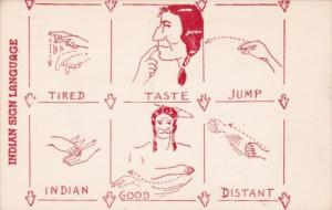 The American Series Indian Sign Language
