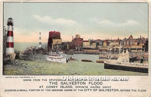 Amusement Park Postcard Post Card In the Surf Coney Island, New York, NY, USA...