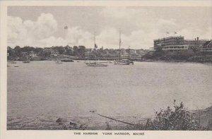 Maine York Harbor The Harbor Albertype