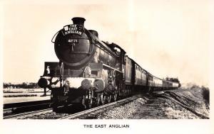 Manningtree UK~East Anglian Railway Train Engine~Valentine Real Photo Postcard