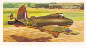 Trade Card Brooke Bond Tea History of Aviation black back reprint No 24 Gloster