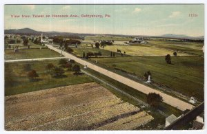 Gettysburg, Pa, View from Tower on Hancock Ave.