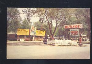 NORTH PLATTE NEBRASKA BUFFALO BILL TRADING POST STORE VINTAGE POSTCARD