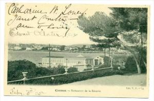 Cannes, France, Restaurant de la Reserve, PU-1905