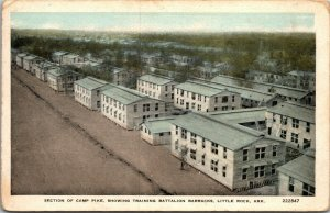 Camp Pike Little Rock Arkansas WWII base barracks~postcard MILITARY
