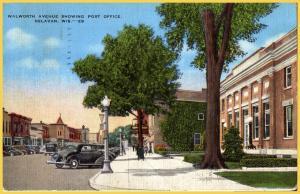 Delavan, Wis. Walworth Avenue Showing the Post Office - 1948