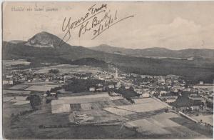 1906 HAIDA von suden Gesehen AUSTRIA Postcard Birdview Buildings Fields