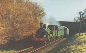 LSWR 4-4-2T Adams Radial 488 Engine Bluebell Railway Sussex Train Postcard