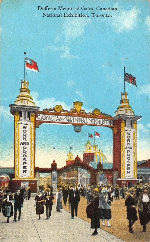 Canada Dufferin Memorial Gates National Exhibition Toronto Postcard
