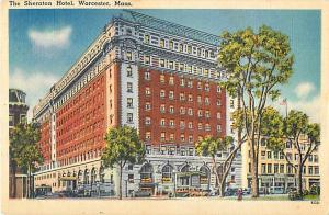The Sheraton Hotel Worcester Massachusetts MA Linen Postcard