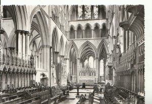 Wiltshire Postcard - The Choir, Salisbury Cathedral - Real Photograph Ref 18041A