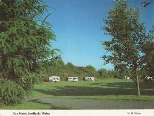 Cae Marw Benllech Wales Caravan Club Camp Site Postcard